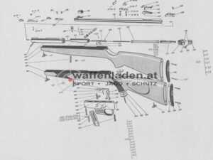 Spannstift vollständig Voere 2114 Selbstladegewehr
